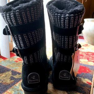 Bearpaw Black Boots, Brand New with Tags, Size 7